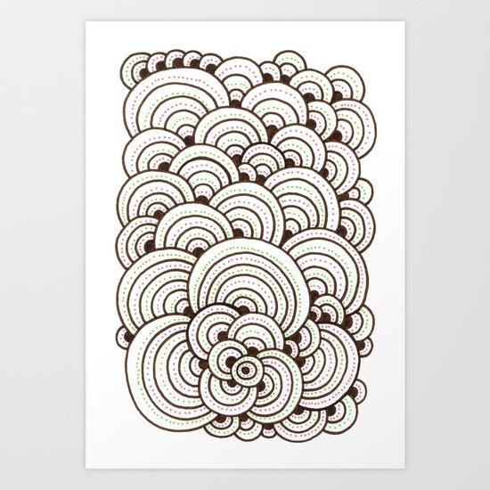 Dot Cluster 4 Art Print