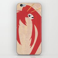 gurren lagann iPhone & iPod Skins featuring Minimalist Yoko by 5eth