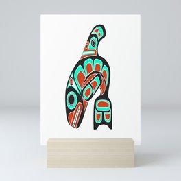 Alaska Orca Whale Haida Style Art - Native American Tribal Mini Art Print