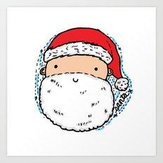 Cute Santa Art Print