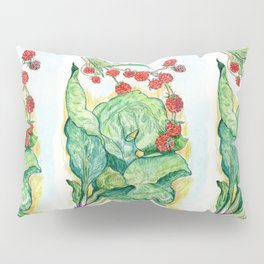 Rhubarb and Raspberries Pillow Sham