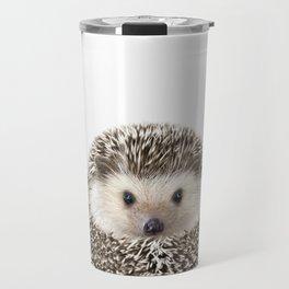 Hedgehog Art Travel Mug