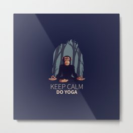 KEEP CALM DO YOGA | Metal Print