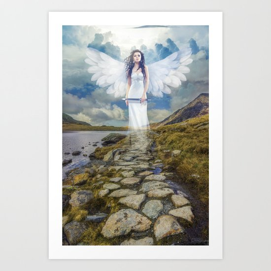 Angels Protection Art Print