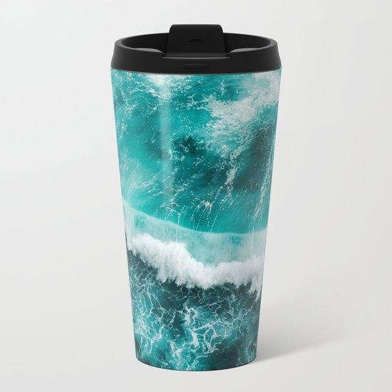 BEAUTIFUL WAVES Metal Travel Mug