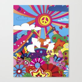 Woodstock- Peace Canvas Print