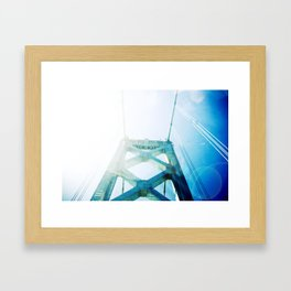 oakland bay bridge  Framed Art Print