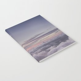 Sunset and Moon Rise Above the Clouds // Mount Haleakala, Maui Notebook