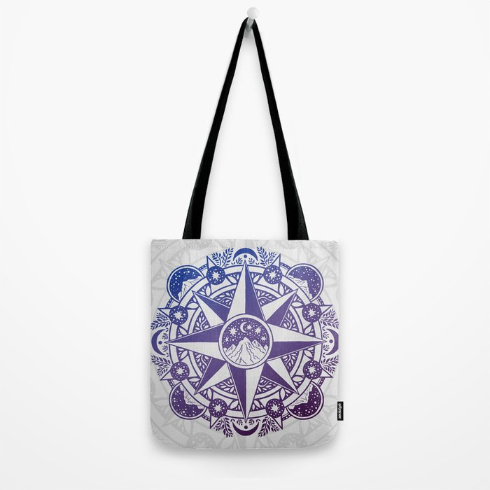 Journey to Moon Mountain | Ultra Violet Ombré Tote Bag