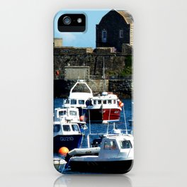 Boats in the Harbour iPhone Case