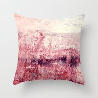concrete Throw Pillows featuring concrete by Claudia Drossert