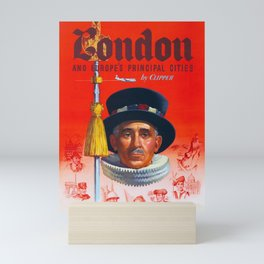 London -  Vintage Air Travel  Poster Mini Art Print