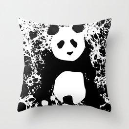 Monochromatic Panda Throw Pillow