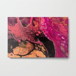 Lifeline Acrylic Pour 2553 Metal Print