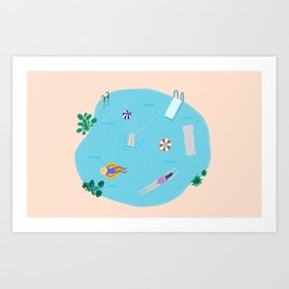 Day at the Pool Art Print