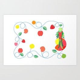 Kitchen quetzal Art Print