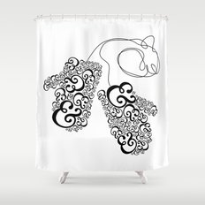 Ampersand Mittens Shower Curtain