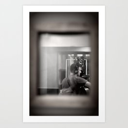 Recording in Capitol Records Art Print
