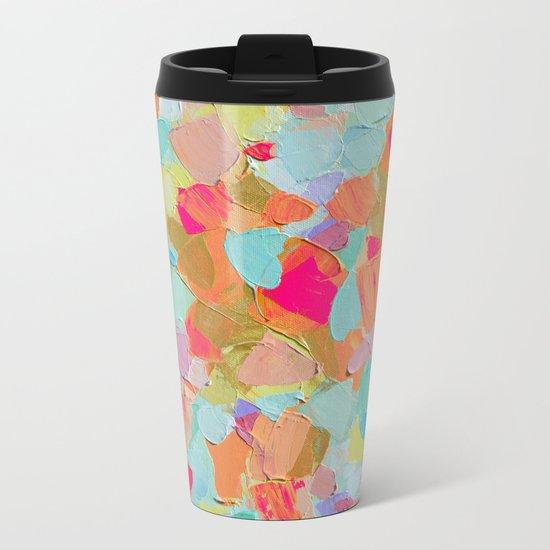 Pink Flamingo Party Metal Travel Mug