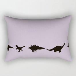 Dancing Dinos Rectangular Pillow