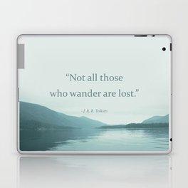 Blue Lake + Tolkien Quote Laptop & iPad Skin
