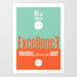 Lab No. 4- Aristotle Quote motivational typography Quote Poster Art Print