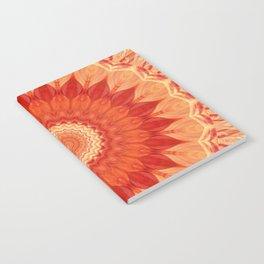 Mandala orange red Notebook