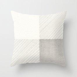 Buffalo Check Pencil Drawing Throw Pillow