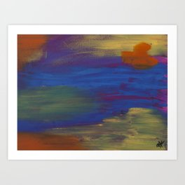 Abstract Uno Art Print