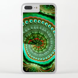 Pretty eyes, swirling pattern abstract Clear iPhone Case