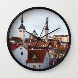 Historic Tallinn, Estonia Wall Clock