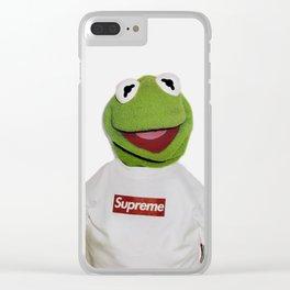 Supreme Kermit Clear iPhone Case