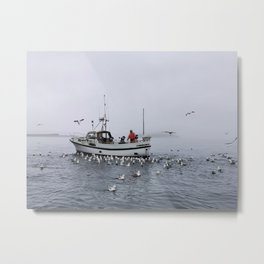 Fishing in the Faroes Metal Print