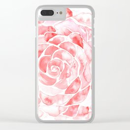 Petals of a Rose Clear iPhone Case