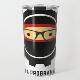 Programmer - Ninja Programmer Travel Mug
