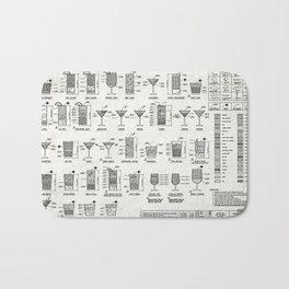 COCKTAIL poster, cocktail chart print Bath Mat