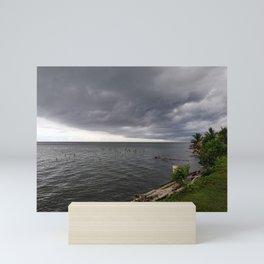 Dark Clouds Before a Tropical Downpour Mini Art Print