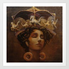 Brass Ring Dream Art Print