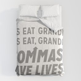 COMMAS SAVE LIVES! Comforters