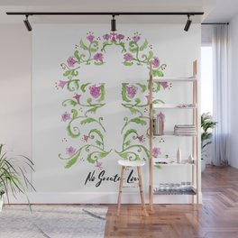 No Greater Love Floral Cross Wall Mural