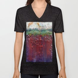Colors of the Season (christmas abstract) Unisex V-Neck