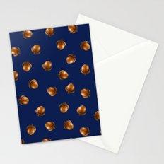 Acorn Pattern-Navy Stationery Cards