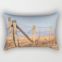 Barb Wire Fence Rectangular Pillow