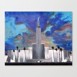 d7ec3e801d54 Los Angeles LDS Temple Canvas Print