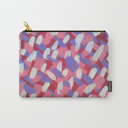 Pink and Purple Brushstrokes Art Carry-All Pouch