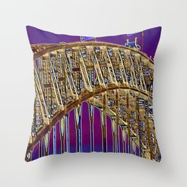 Spot the Walkers on the Bridge 1 Throw Pillow