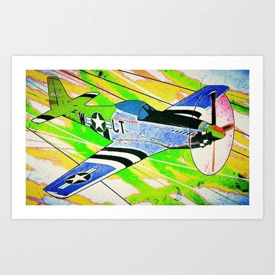 P51 Mustang Pop Art Art Print