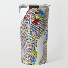 NEW YORK color map Travel Mug