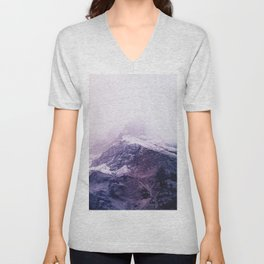 Lavender mountains Unisex V-Neck