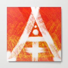 THE FIRST LETTER IS A Metal Print